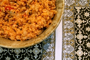 Chickpea Bulgur Pilaf photographed by REG