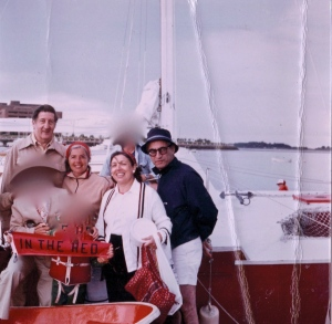 The Weiners & my parents on a Boston Harbor cruise (and yes, I blurred out some unidentified friends).